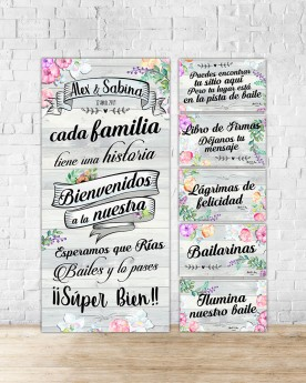 "Pack Carteles boda ""Wedding..."