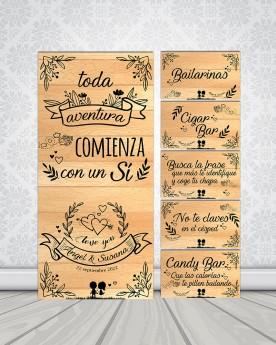 "Pack Carteles boda ""Aventura"""