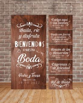 "Pack Carteles boda ""Baila y..."