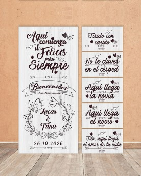 "Pack Carteles boda ""Felices..."
