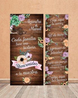 "Pack Carteles boda ""Historia"""