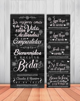 "Pack Carteles boda ""Mejores..."
