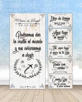"""Pack Carteles boda """"Vuelta..."""