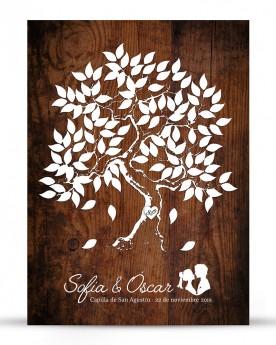 """Cuadro de firmas """"Wood-Tree"""""""