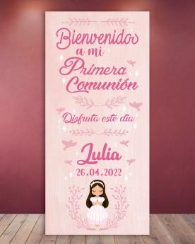 Cartel Comunión | Pink