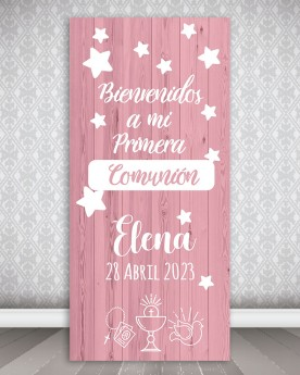 Cartel Comunión | Simple Pink