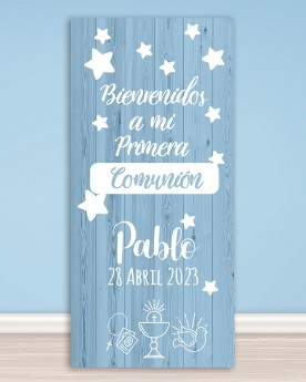 Cartel Comunión | Simple Blue