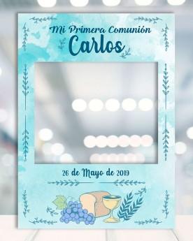 Photocall Comunion Blue