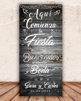 Cartel boda Party