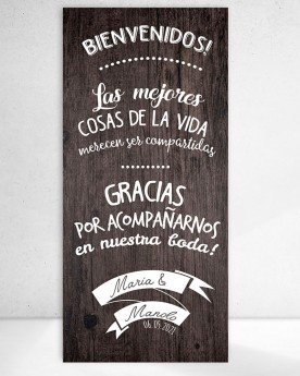 Cartel boda Share