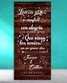 Cartel boda Novios