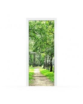 Vinilo Puerta Trees