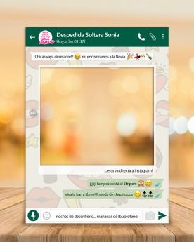 Photocall Whatsapp personalizado para bodas, cumpleaños, aniversarios, etc.