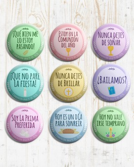 Pack 25 Chapas Comunion |...