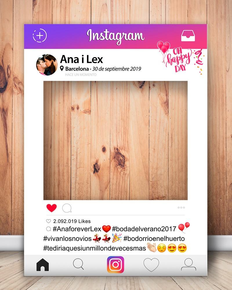 Photocall Instagram personalizado para bodas, cumpleaños, aniversarios, etc.