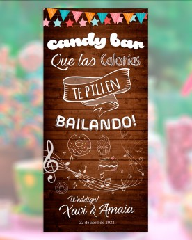 "Cartel boda ""Candy Bar"""