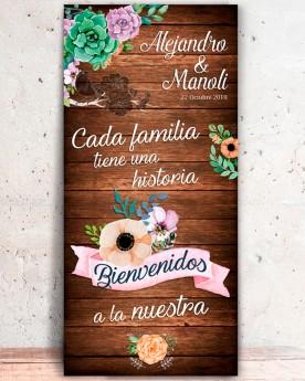 "Cartel boda ""Historia"""