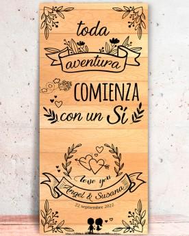 """Cartel boda """"Aventura"""""""