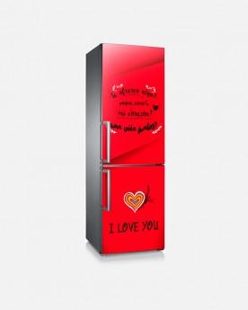 Vinilo Frigorífico Love You