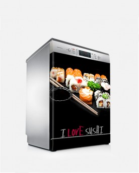Vinilo Lavavajillas Love Sushi