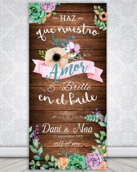 """Cartel boda """"Que nuestro..."""