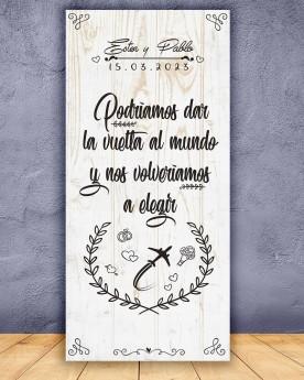 Cartel boda Vuelta al Mundo