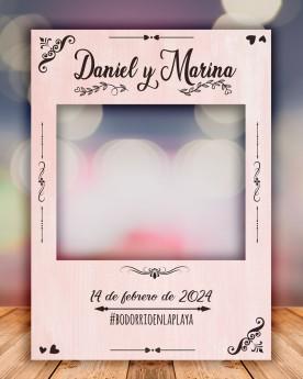 Photocall boda pink personalizado y en 3 tamaños distintos.