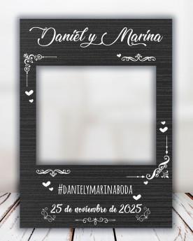 Photocall Boda Dark personalizado para bodas, aniversarios, cumpleaños y eventos en general.