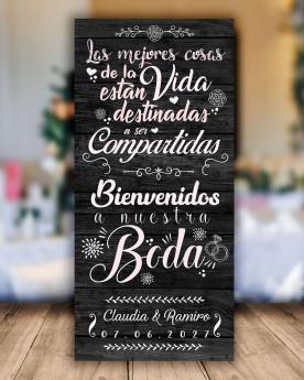 Cartel boda Las mejores cosas
