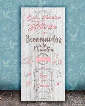 Cartel boda Historia White