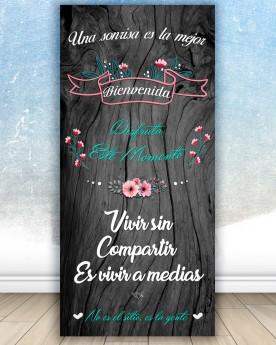 Cartel boda Sonrisa Bienvenida