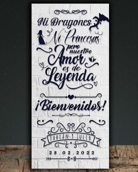 Cartel boda Dragones &...