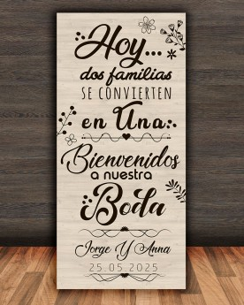 Cartel boda Family